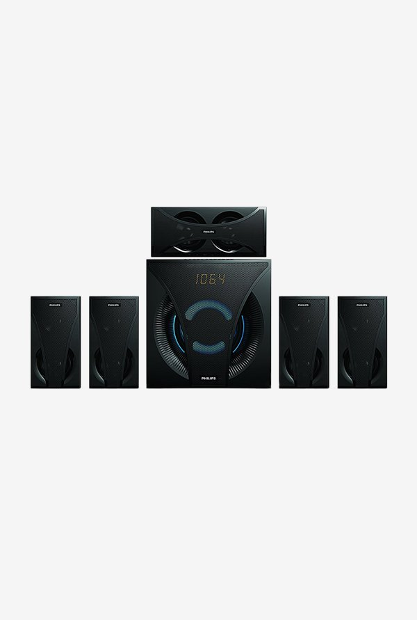 Philips SPA5220B 120 W 5.1 Channel Multimedia Speaker(Black)