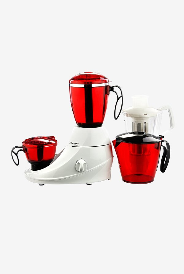 Butterfly Desire 230 W 4 Jars Mixer Grinder (Red & White)