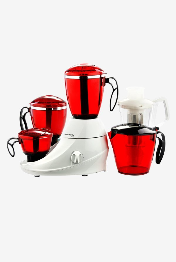 Butterfly Desire 550 W 5 Jars Mixer Grinder (Red & White)