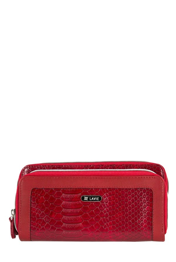 Lavie Path Red Textured Wallet