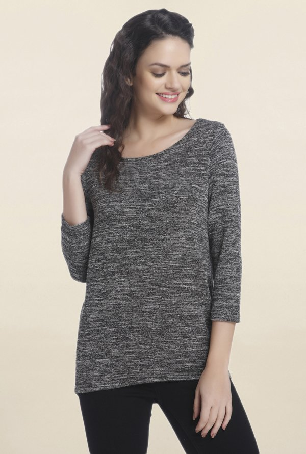 Only Grey Textured Top