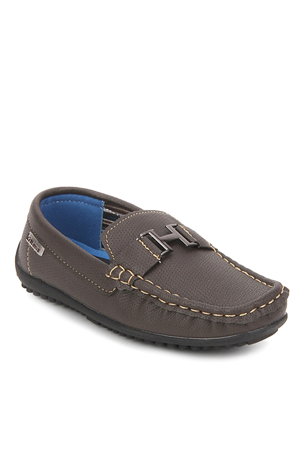 8d2241b3d52 Buy Kittens Dark Brown Loafers for Boys at Best Price   Tata CLiQ
