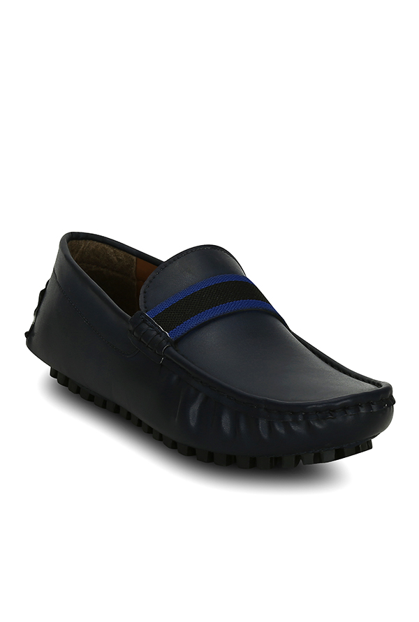 Get Glamr Mike Konos Navy Loafers