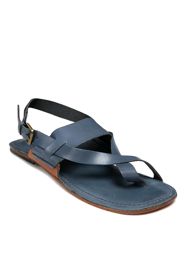 Ruosh Navy Toe Ring Sandals