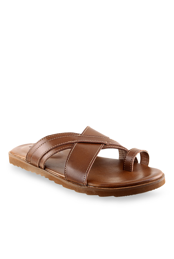 Ruosh Brown Toe Ring Sandals