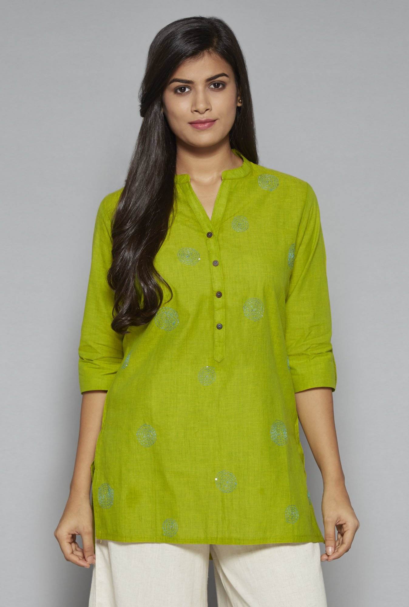Utsa by Westside Lime Green Kurti