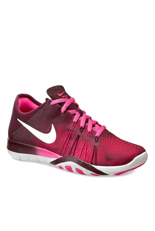 the latest 8462f 641d3 Buy Nike Free TR 6 PRT Pink Running Shoes for Women at Best Price   Tata  CLiQ
