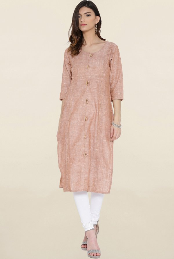 Shree Brown Textured Kurta