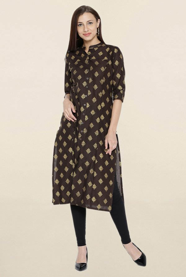 Shree Brown Printed Kurta