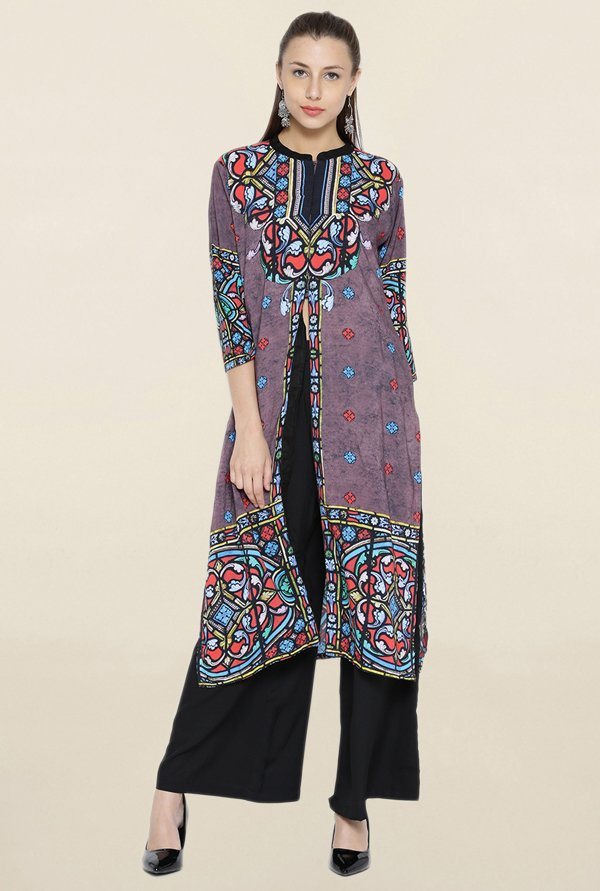 Shree Mauve Printed Kurta