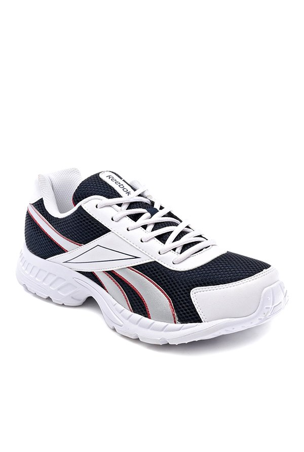 2dbee2b0588e35 Reebok Acciomax Navy   White Running Shoes