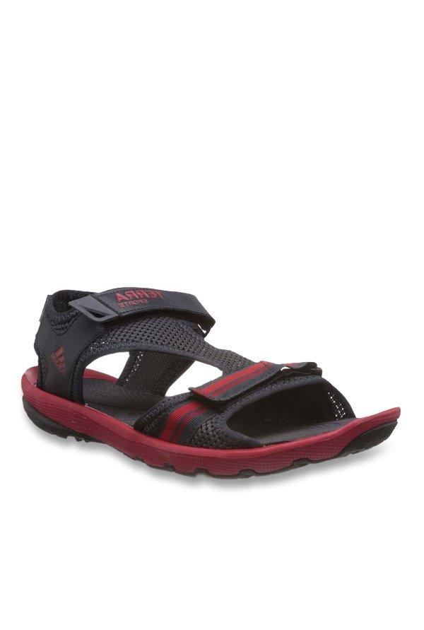 Adidas Black & Red Floater Sandals