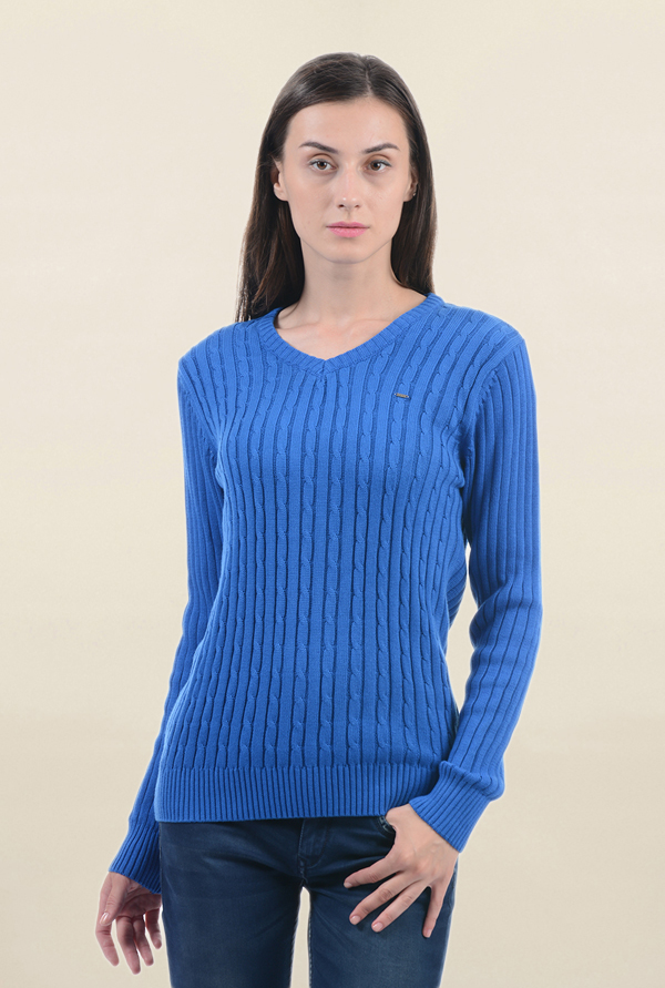 Pepe Jeans Blue Crochet Sweater