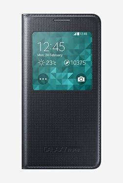 SAMSUNG Mobile Flip Cover For Samsung Galaxy Alpha (Black)
