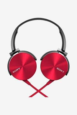 SONY MDR-XB450AP Headphone With Mic (Red)