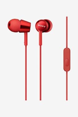 SONY MDR-EX150AP/R In the Ear Headphone With Mic (Red)