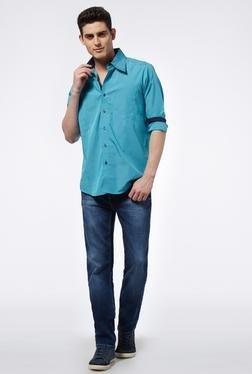 Provogue Green Regular Fit-Shirt