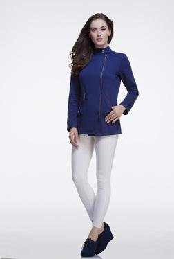 FEMELLA Navy Casual Zip Up Jacket