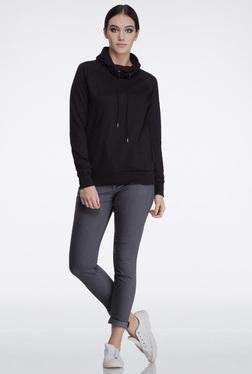 Femella Black Cowl Neck Sweatshirt