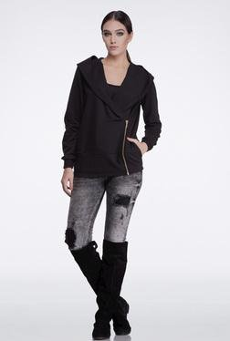 FEMELLA Black Casual Side Zip Jacket