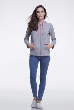 FEMELLA Grey Cotton Hooded Jacket