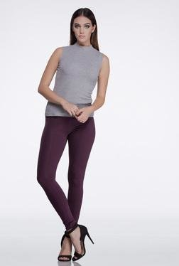 FEMELLA Grey High Neck Top
