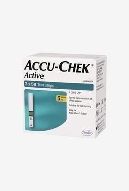 Accu Chek Active 100 Blood Test Strips (White)