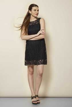 109 F Black Lace Casual Dress