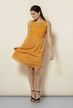 109 F Papaya Stripes Casual Dress