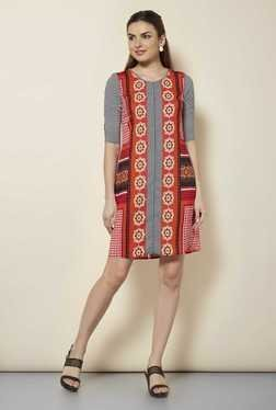 109 F Multicolor Print Casual Dress