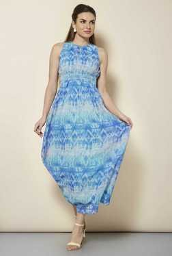 109 F Blue Tie Dye Casual Dress
