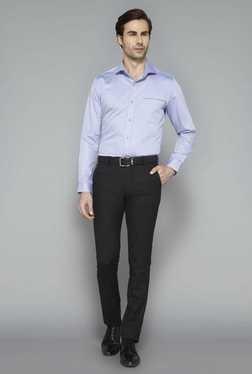 West Street Black Flat Front Trouser