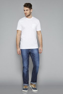Westsport White Slim Fit Crew Neck T Shirt