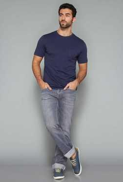 Westsport Mens Navy Crew Neck T Shirt