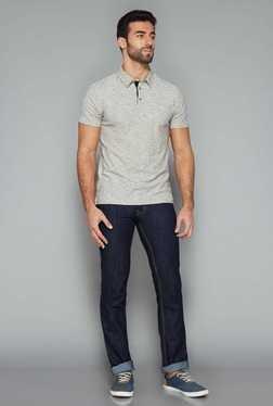 Westsport Mens Dark Blue Regular Fit Jeans