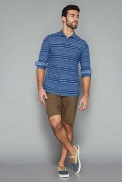 Westsport Mens Indigo Stripes Shirt