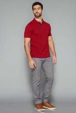 Westsport Mens Red Slim Fit Polo T Shirt
