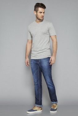 Westsport Grey V Neck Cotton T Shirt