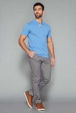 Westsport Mens Blue Polo T Shirt