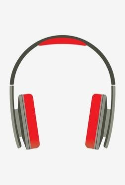 Portronics Quads POR 134 Headphone with Mic (Grey & Red)