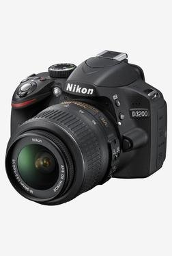 Nikon D3200 With (AF-S 18-55mm VRII Lens) DSLR Camera Black