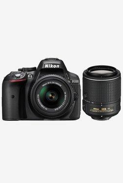 Nikon D5300 (AF-S 18-55mm & 55-200mm Lens) DSLR Camera Black