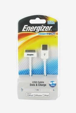 Energizer Hightech Apple 1.5m USB Cable (White)