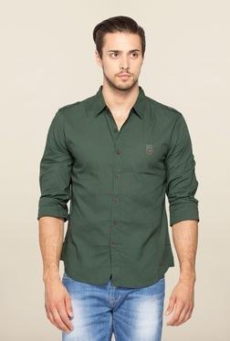 Spykar Green Ranger Slim Fit Casual Shirt