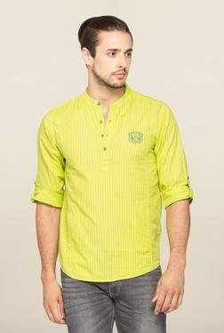 Spykar Lime Stripe Slim Fit Shirt