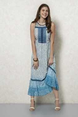 Fusion Beats Indigo Printed Maxi Dress