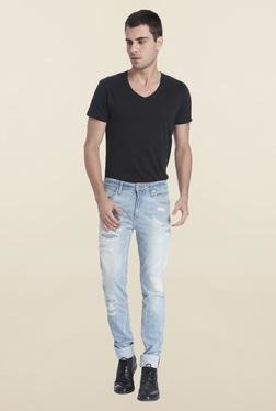 Jack & Jones Light Blue Ben Ripped Jeans