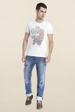 Jack & Jones White Cotton Crew Neck T-Shirt