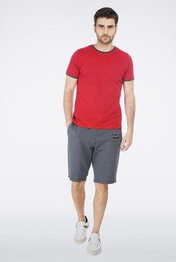 Basics Red, Green, Blue Crew Neck T Shirt