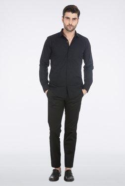Basics Black Star Printed Shirt